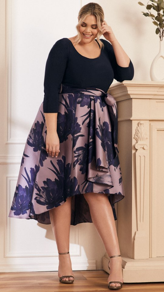 Jersey & Taffeta Dress