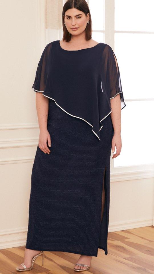 Crystal Detail Poncho Dress