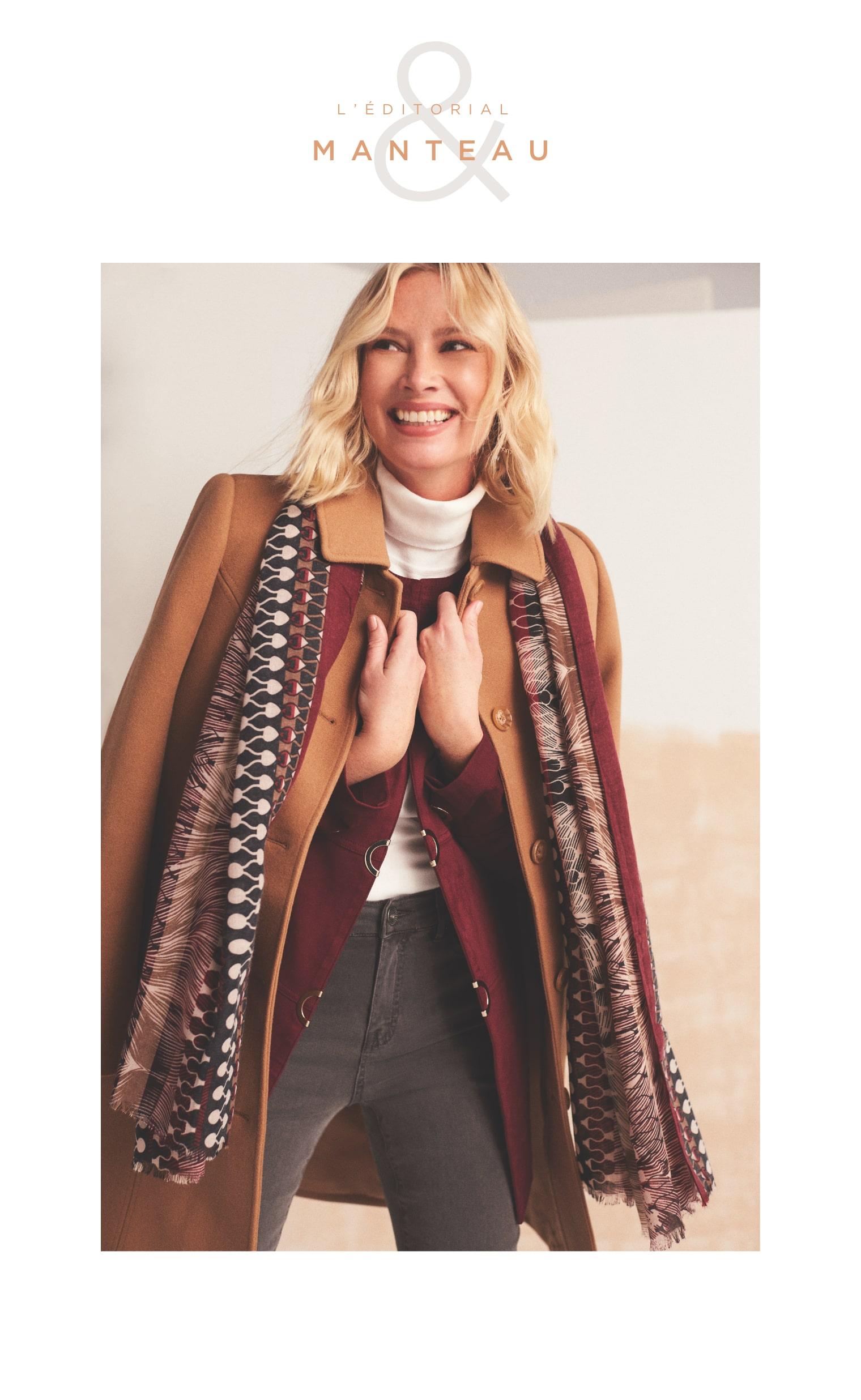 Manteau structuré aspect laine