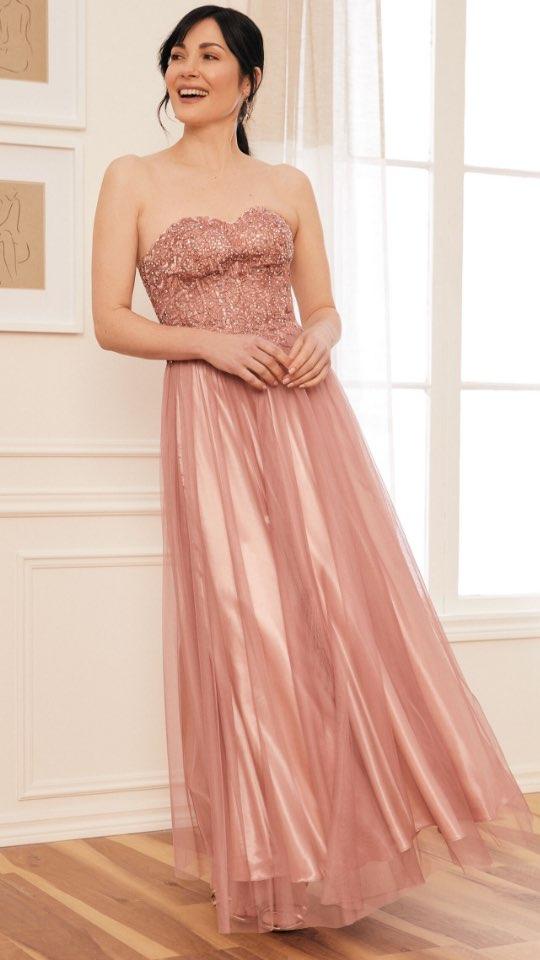 Rhinestone Bustier Ball Gown