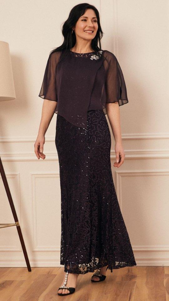 Cleo Neck Tiered Skirt Dress