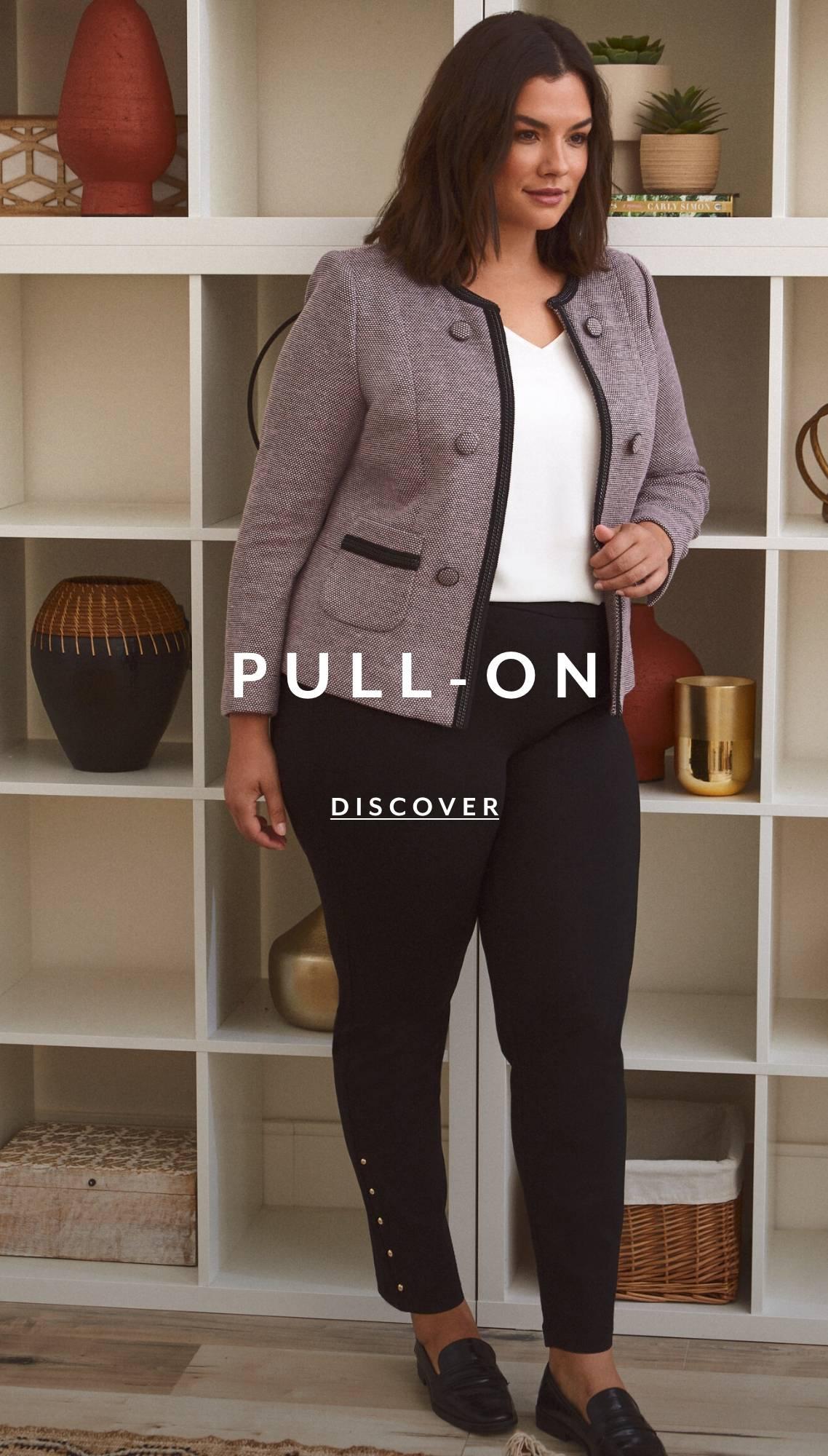 Shop Plus Pants Pull On