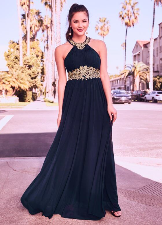 Laura - Prom Dresses 2019 - Embroidered Empire Waist Dress