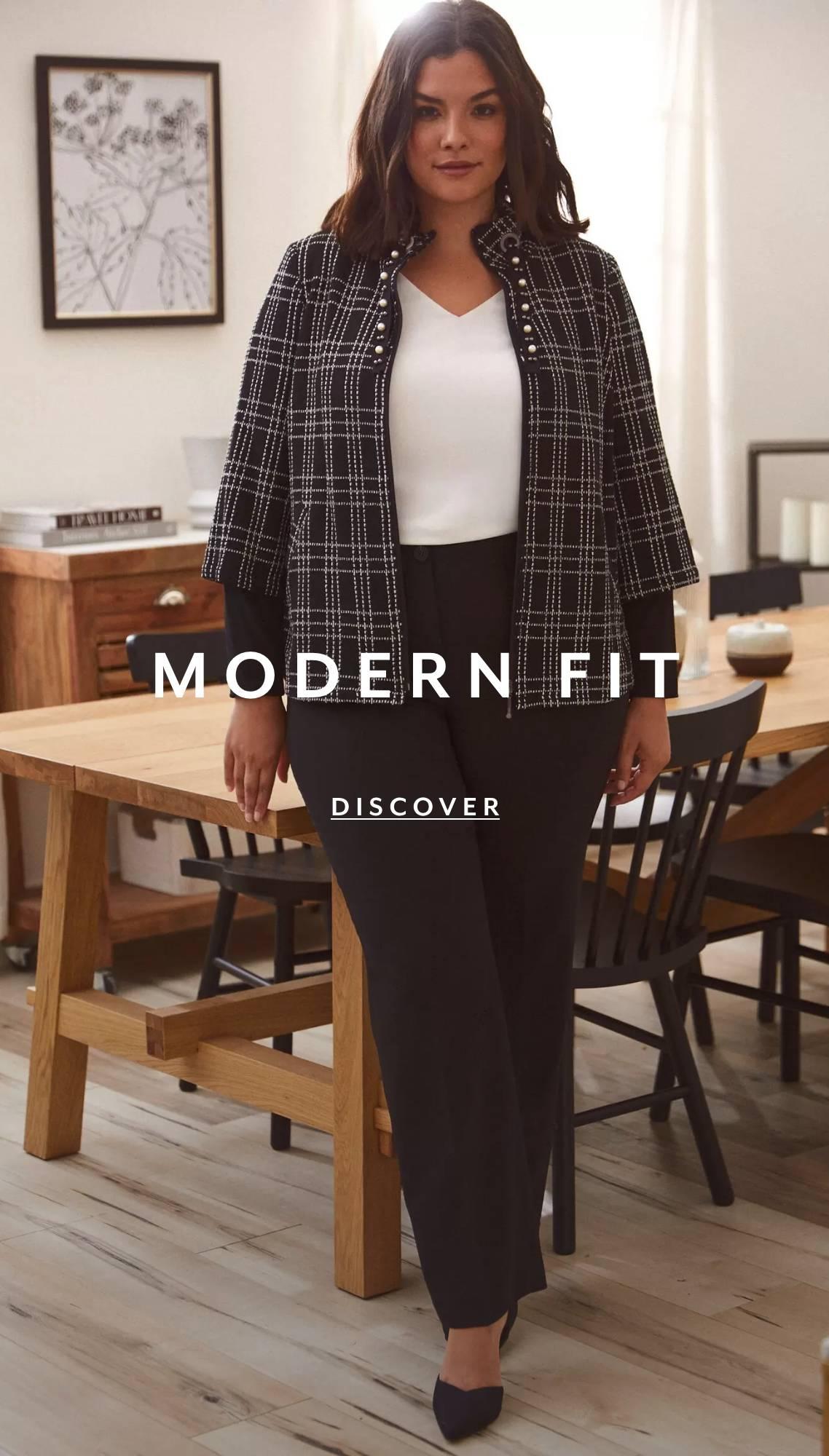 Shop Plus Pants Modern Fit