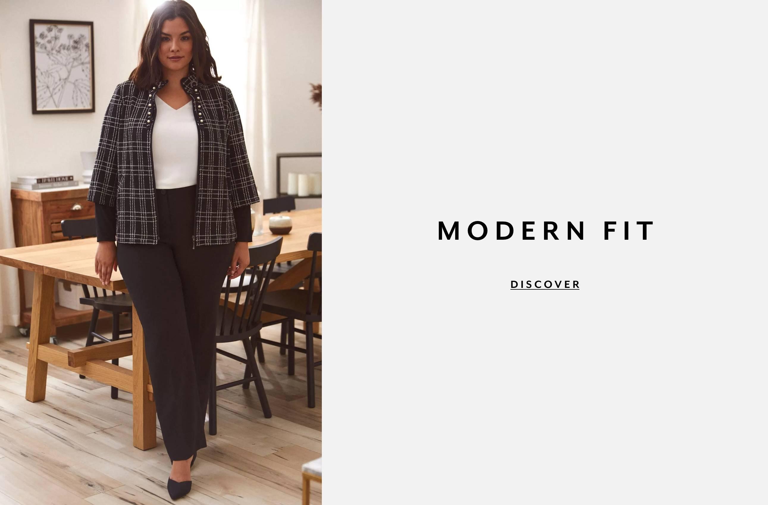 Plus Clothing Pants Modern Fit