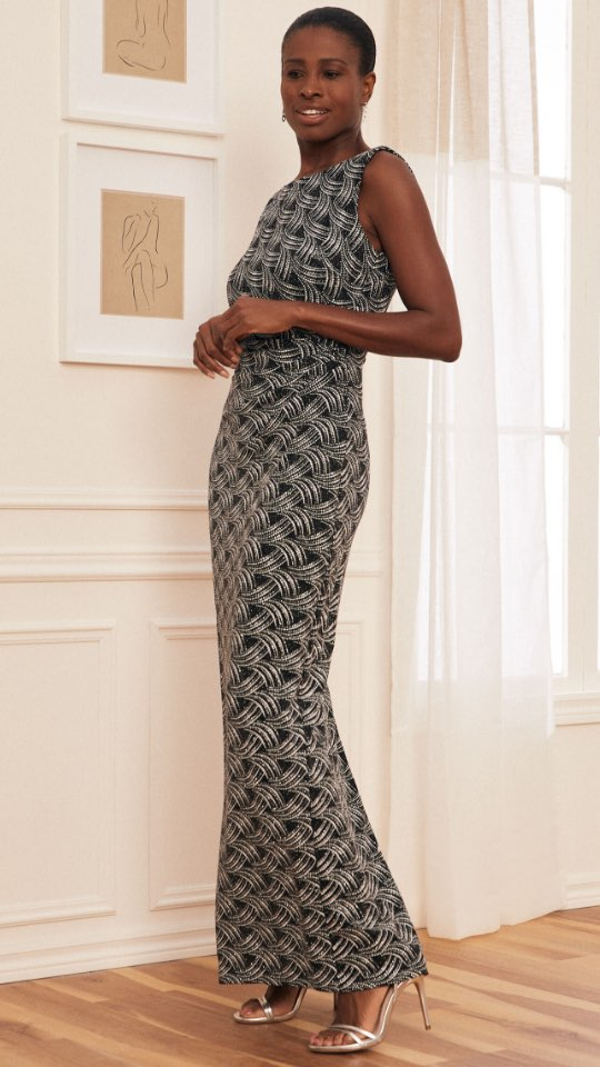 Glitter Knit Column Dress