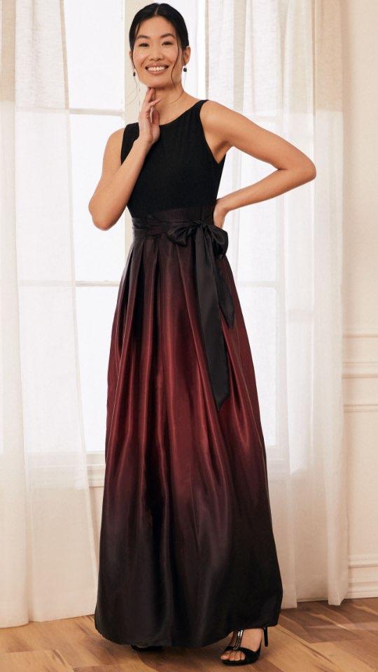 Ombré Satin Evening Dress