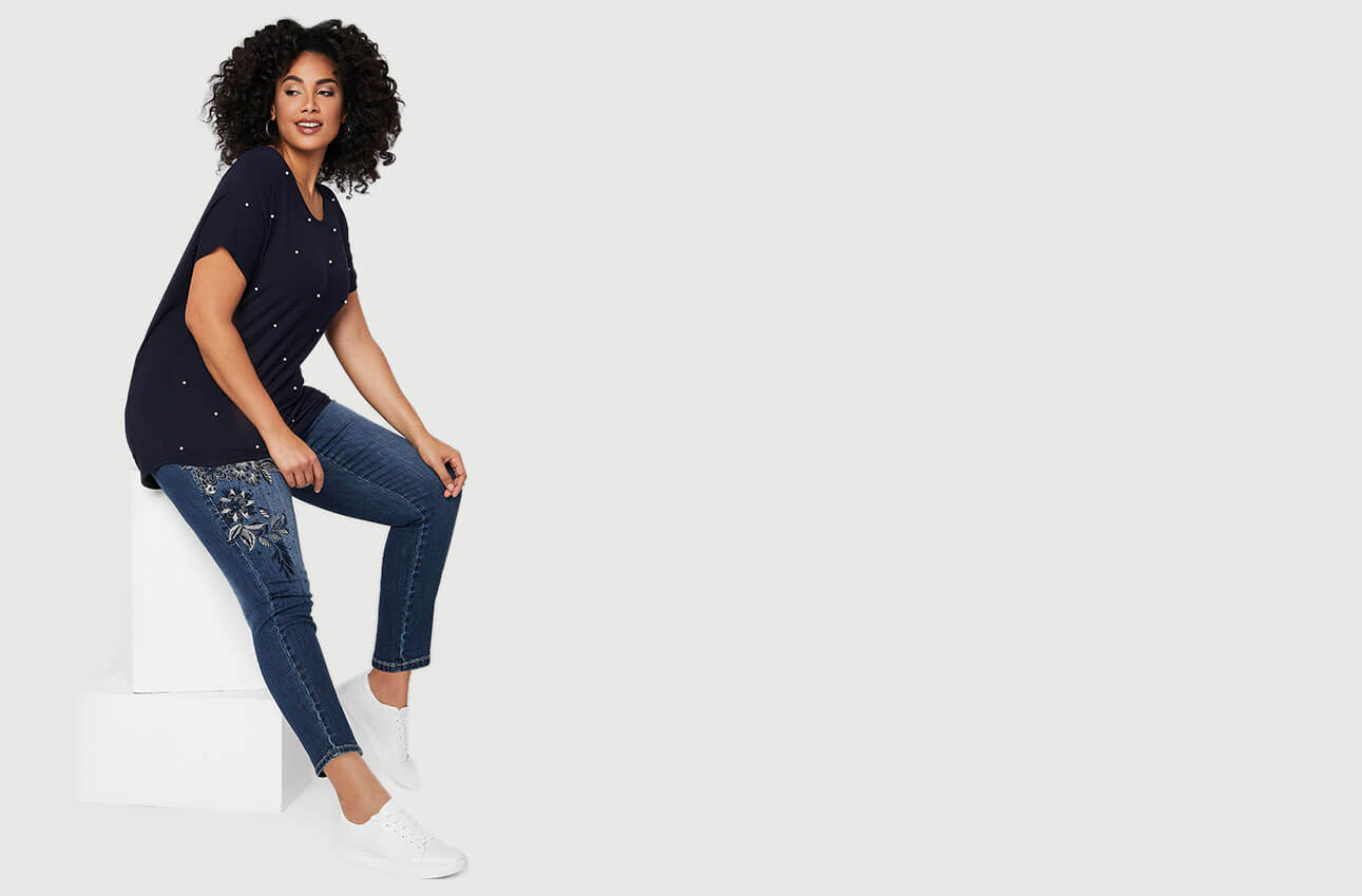 Magasiner Laura Plus Jeans Moderne