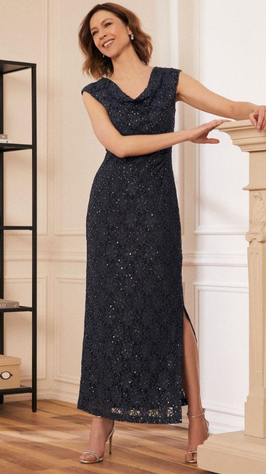 Floral & Sequin Lace Dress