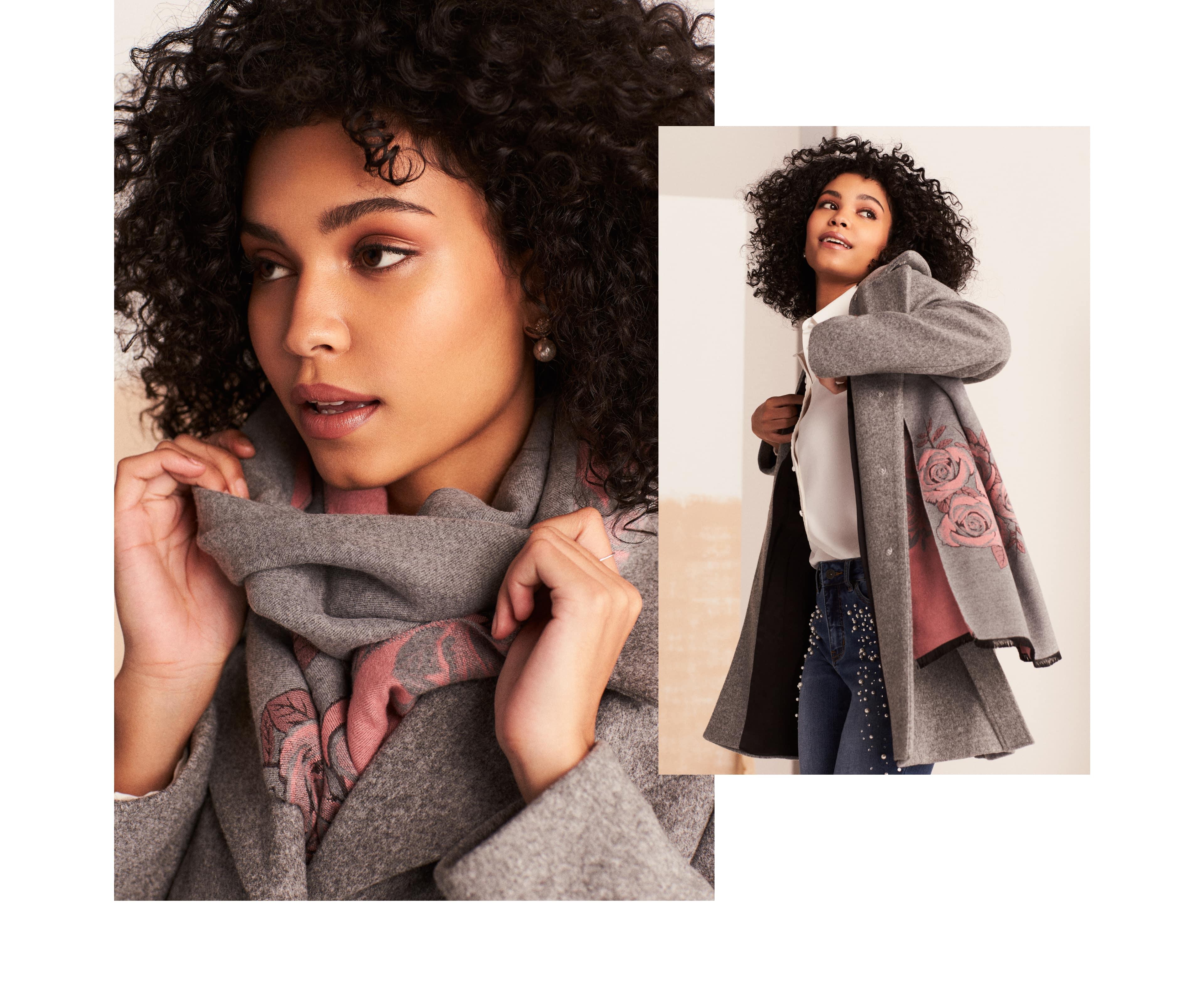 Wool-Like Faux Fur Collar Coat