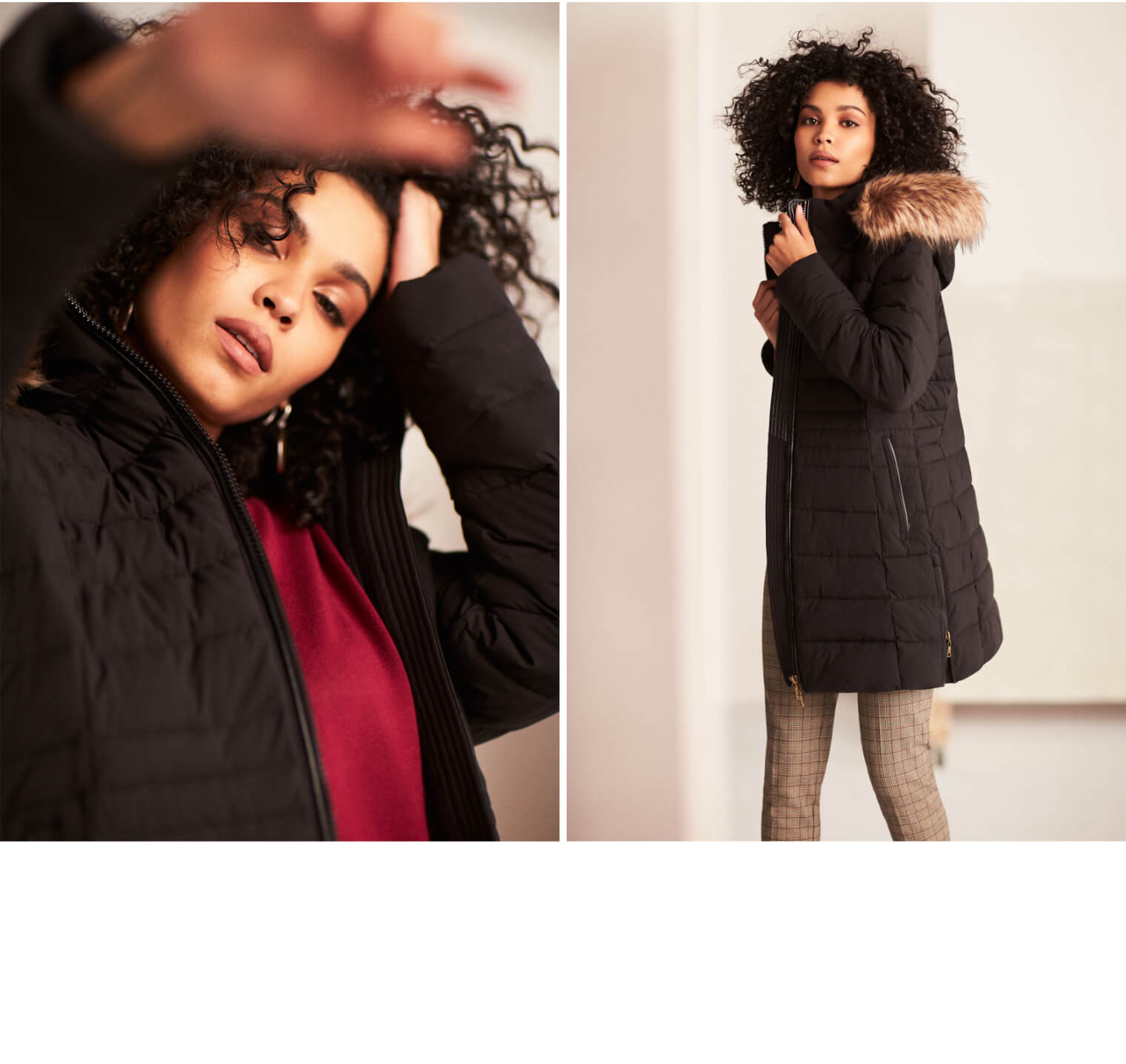 Quilted Recycled Down Coat
