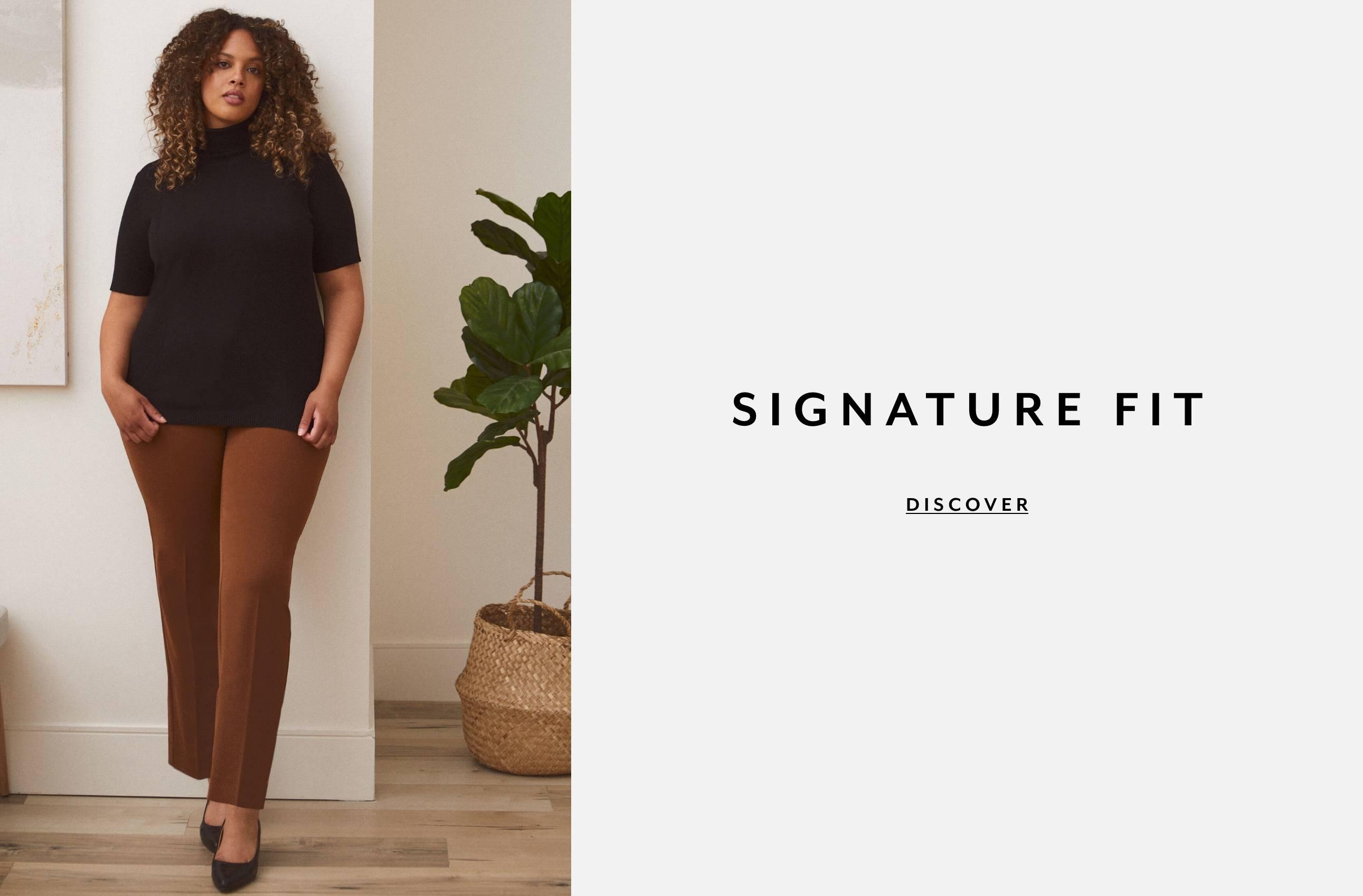 Plus Clothing Pants Signature Fit