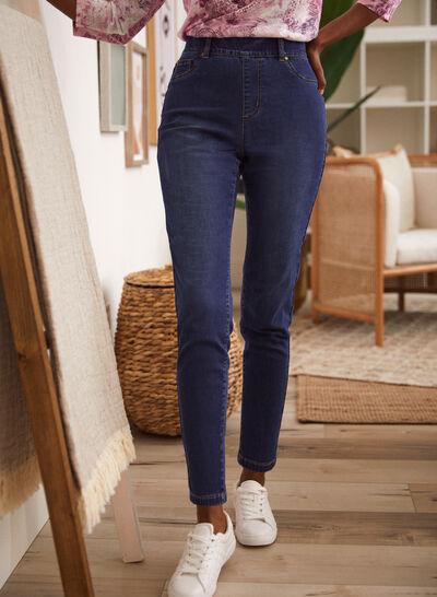Petites - Jeans à enfiler à jambe étroite