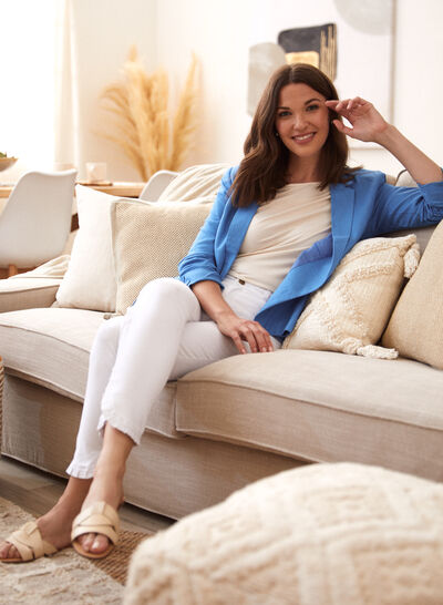 Laura - One-Button Linen Jacket