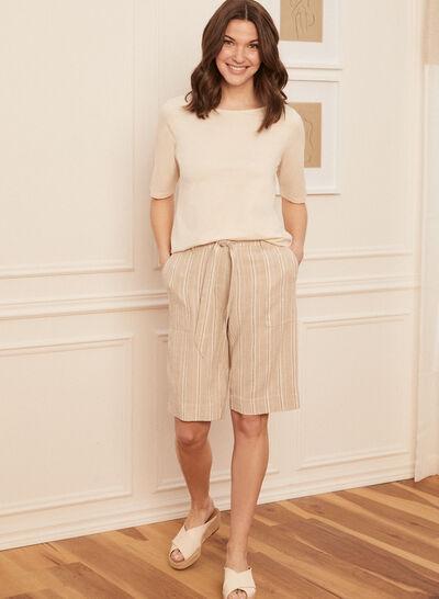 Laura - Linen Capri Shorts
