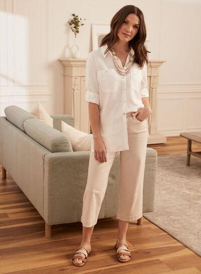 Laura - Linen Tunic Shirt