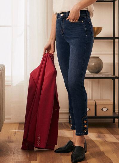 Laura - Jeans à jambe étroite et taille haute