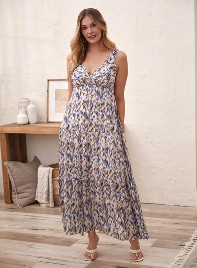 Laura - Abstract Print Chiffon Maxi Dress