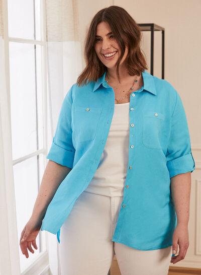 Plus - Linen Tunic Shirt